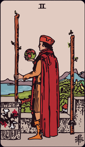Carta de Tarot 2 de bastos