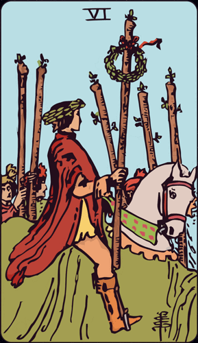 Carta de Tarot 6 de Bastos