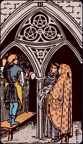 Carta de Tarot 3 de Oros