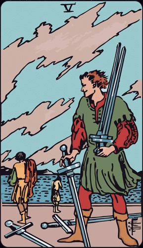 Carta de Tarot 5 de Espadas