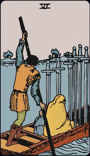Carta de Tarot 6 de Espadas